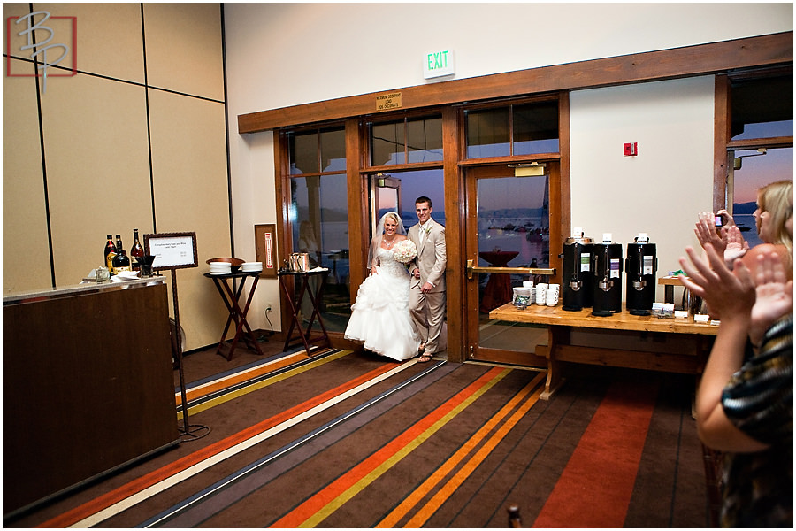 Grand entrance wedding photography