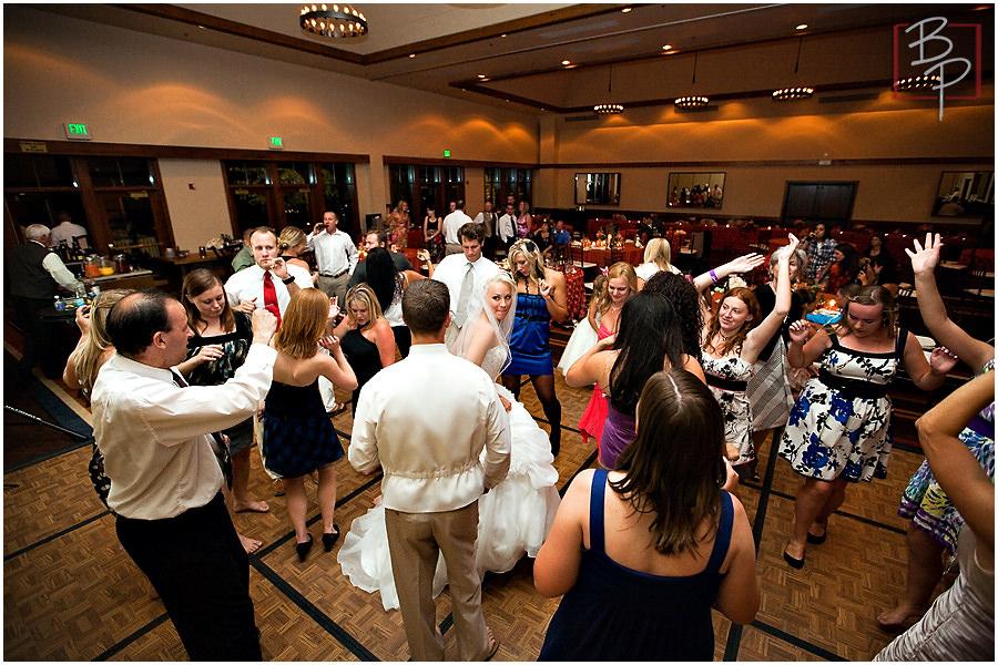 Reception dancing at Hyatt Lake Tahoe