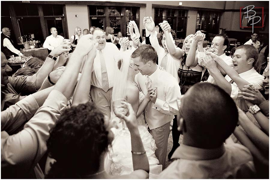 Dancing during reception in Lake Tahoe