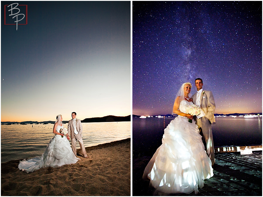 Starry night wedding photography in Lake Tahoe