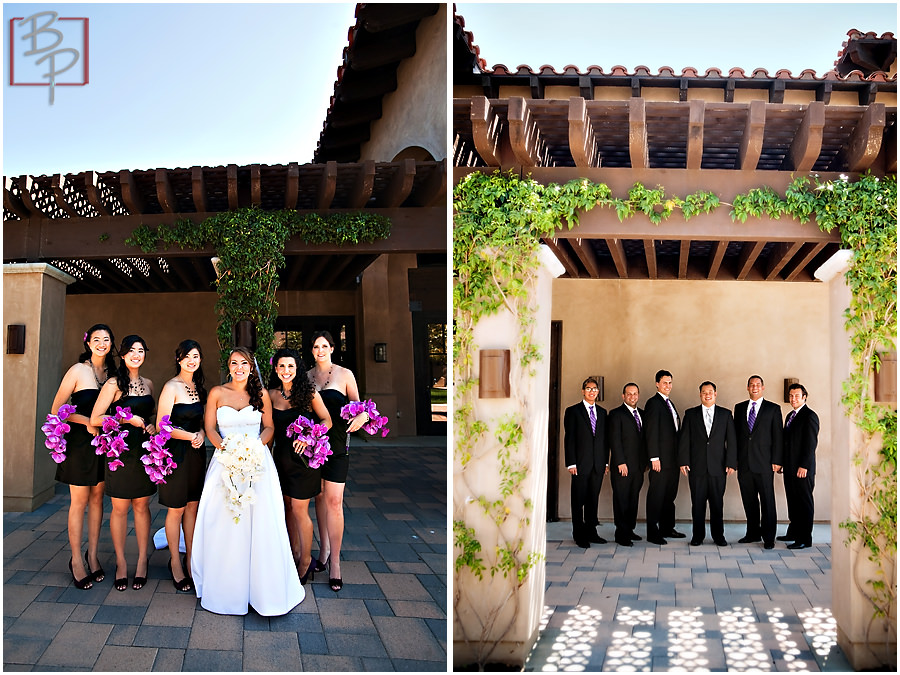 Outdoor Wedding Portrait Session Bridal Party