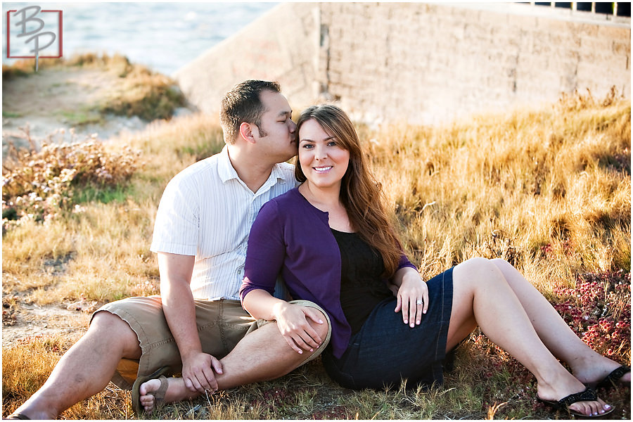 Engagement photographs at Sunset Cliffs