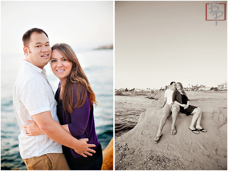 Photography of engaged couple in San Diego