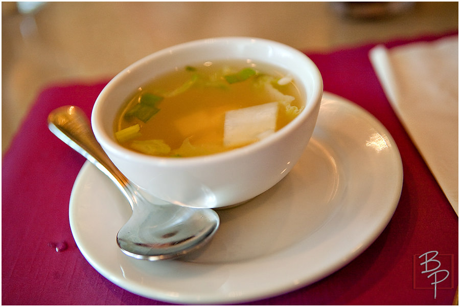 Soup plate at Siam Nara Restaurant at Mira Mesa Blvd.