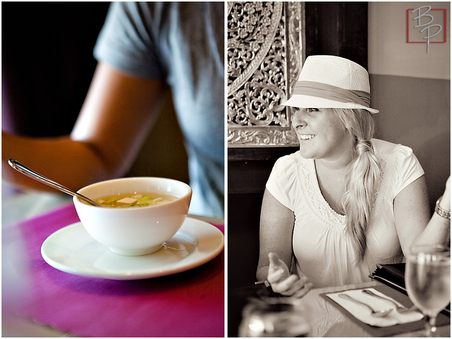 Thai Soup Plate and San Diego Photographer at Siam Nara Restaurant in San Diego