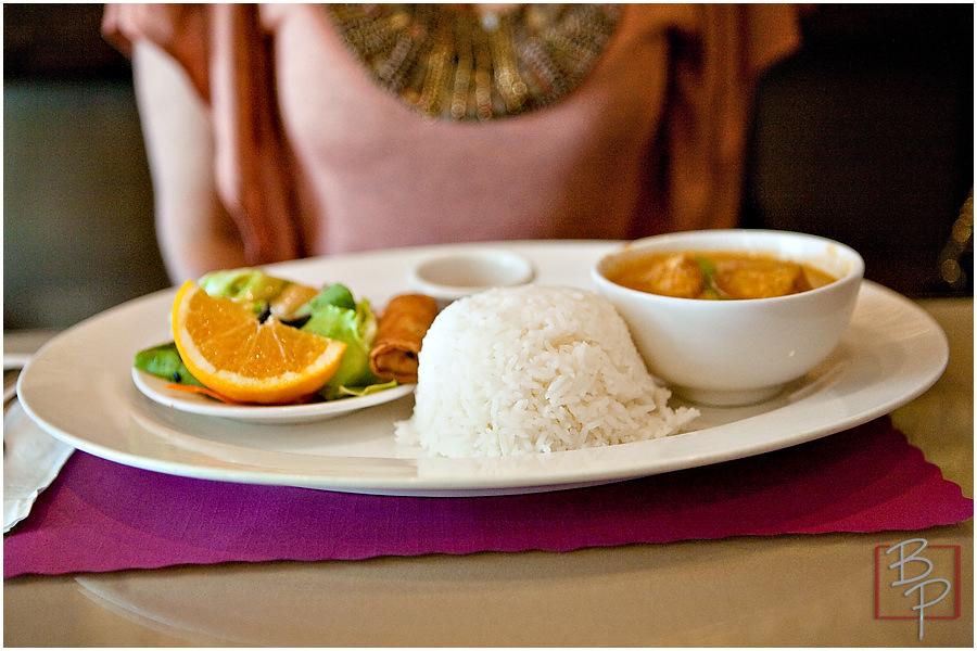 Thai Food Plate at Siam Nara Restaurant at Mira Mesa