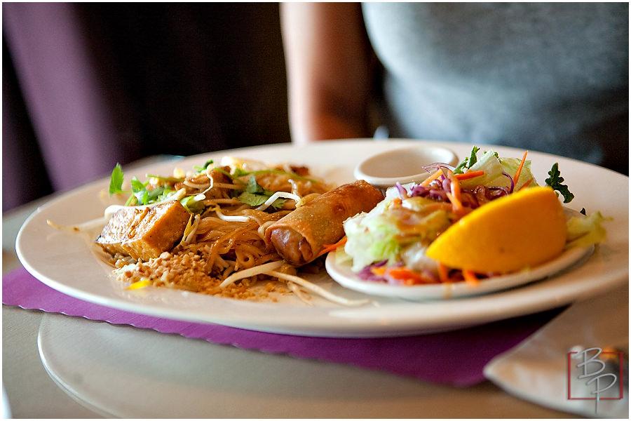 Thai Food Plate at Siam Nara Restaurant at Mira Mesa Blvd.