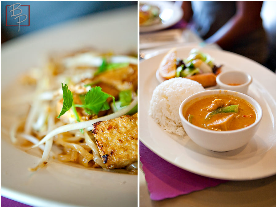 Thai Food Plate at Siam Nara Restaurant in San Diego