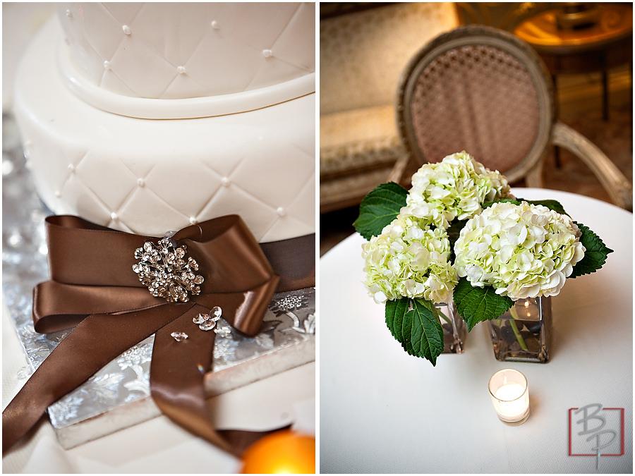 Indoor Wedding Details Cake