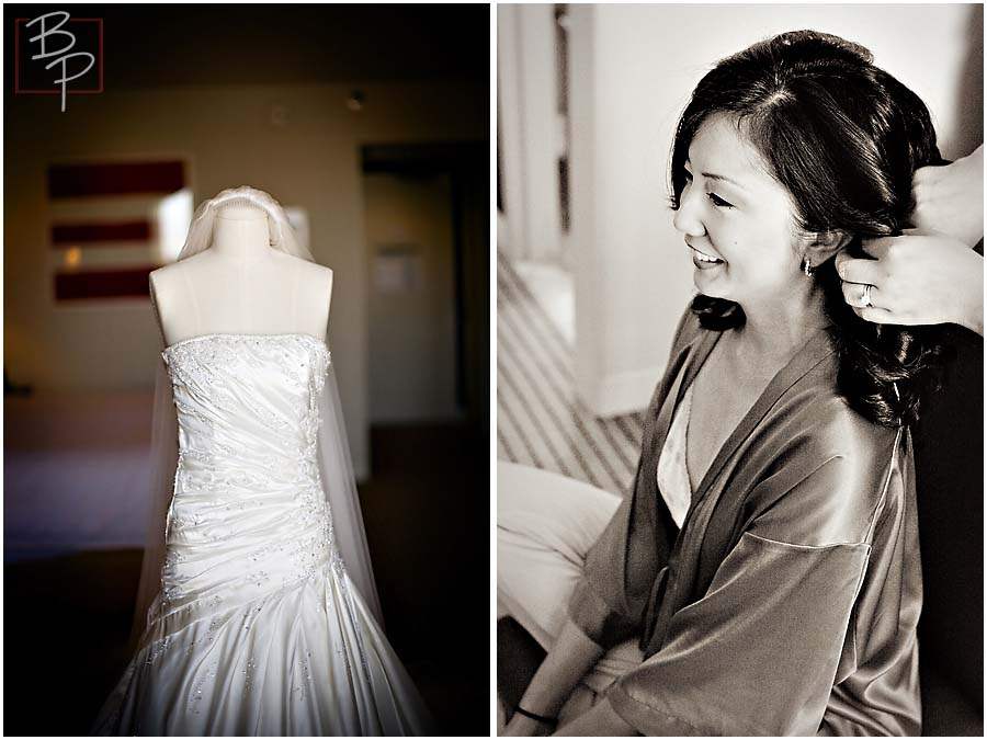 The dress and the bride prepares