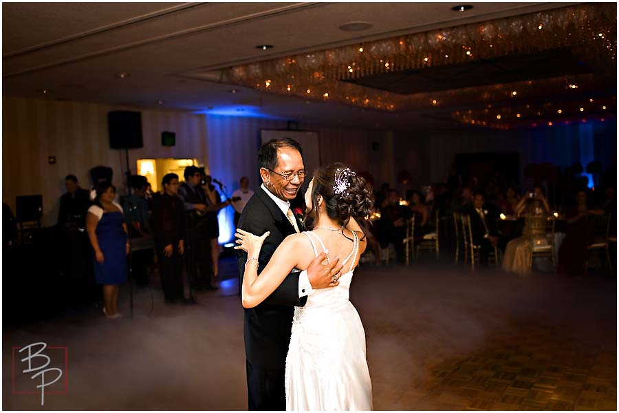 The bride dances with her father