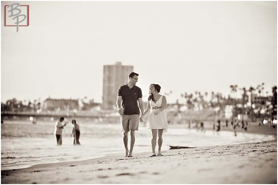 Couple at Orange County Beach
