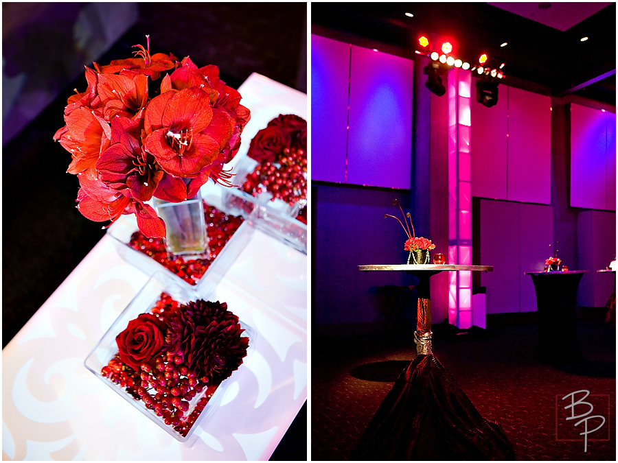 red centerpieces