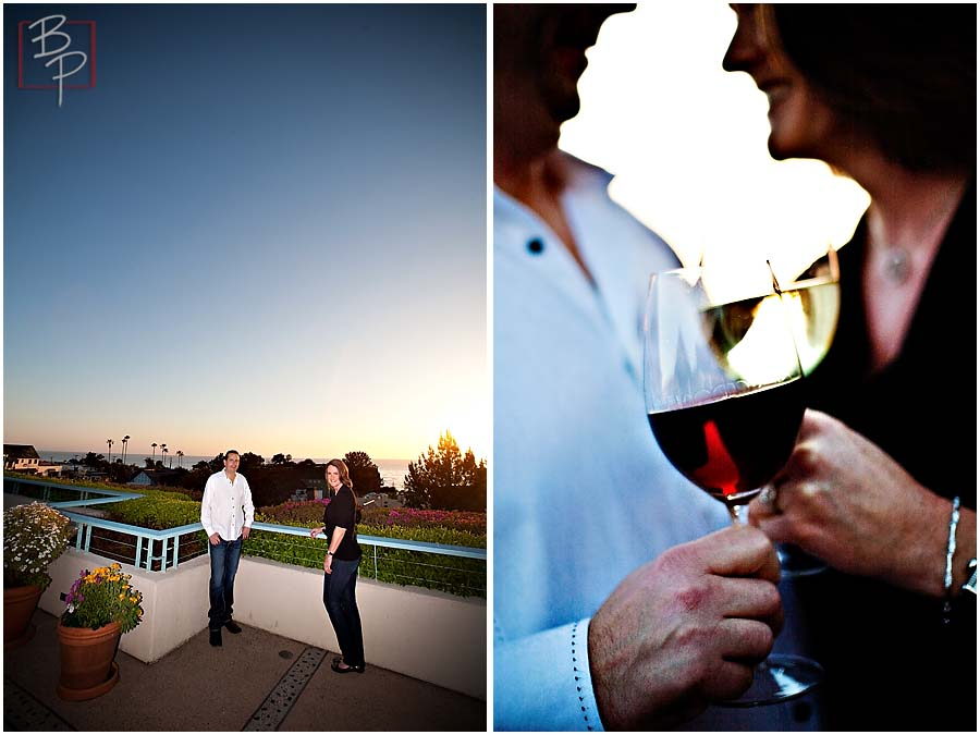 wine and sunset portraits