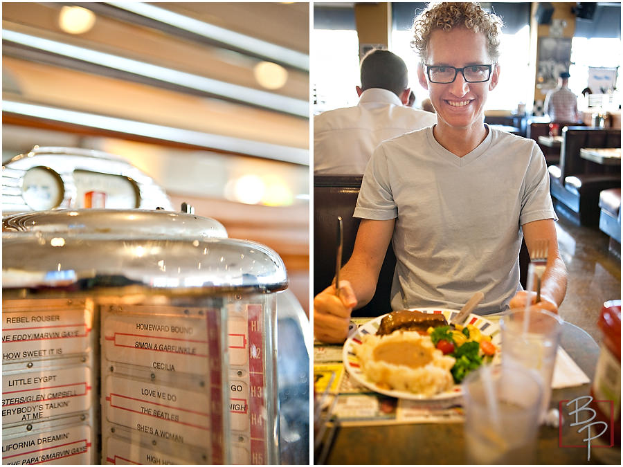 Photographs of lunch outing in San Diego