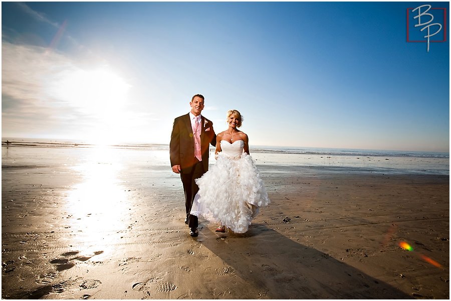 San Diego beach wedding photographs