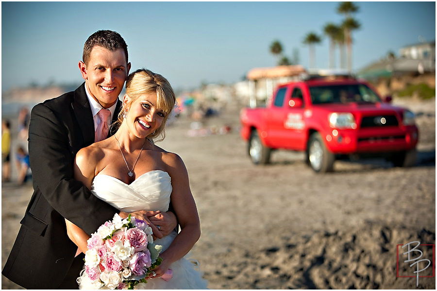 Newlywed couple in Del Mar photography