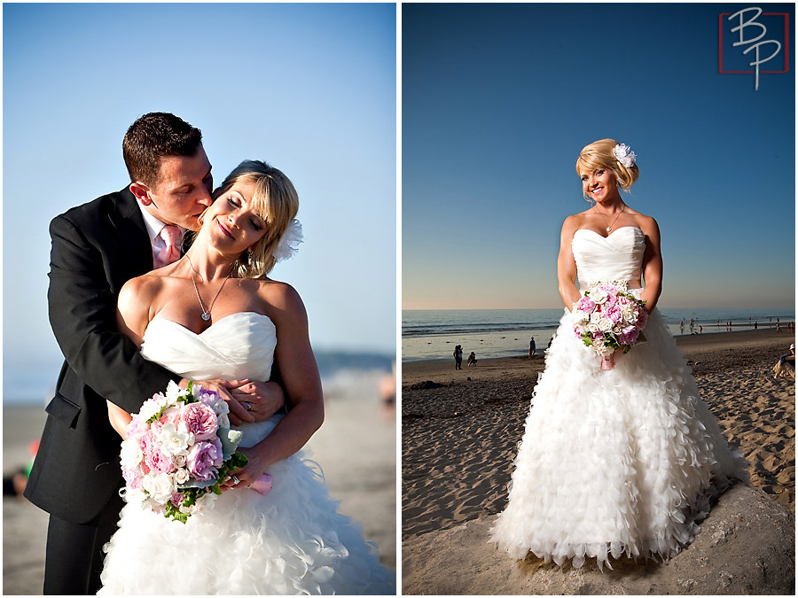 Bride and groom in Del Mar