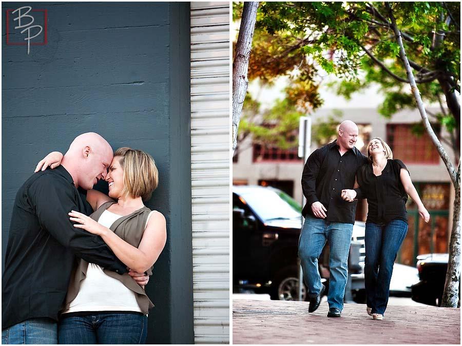 Couple walking at Gaslamp, Downtown San Diego