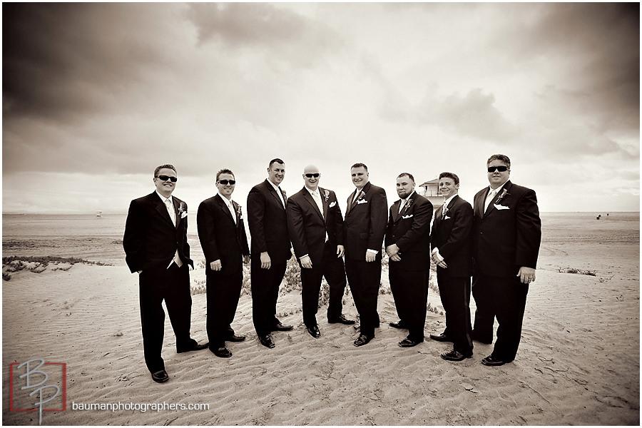 Coronado Beach groomsmen portraits