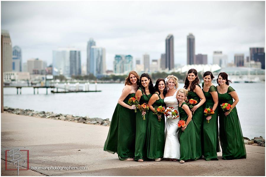 Coronado Island wedding portraits