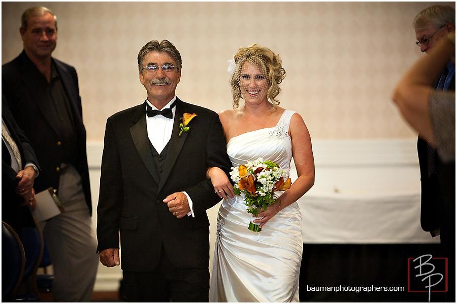 bride and father picture Island Club-Coronado