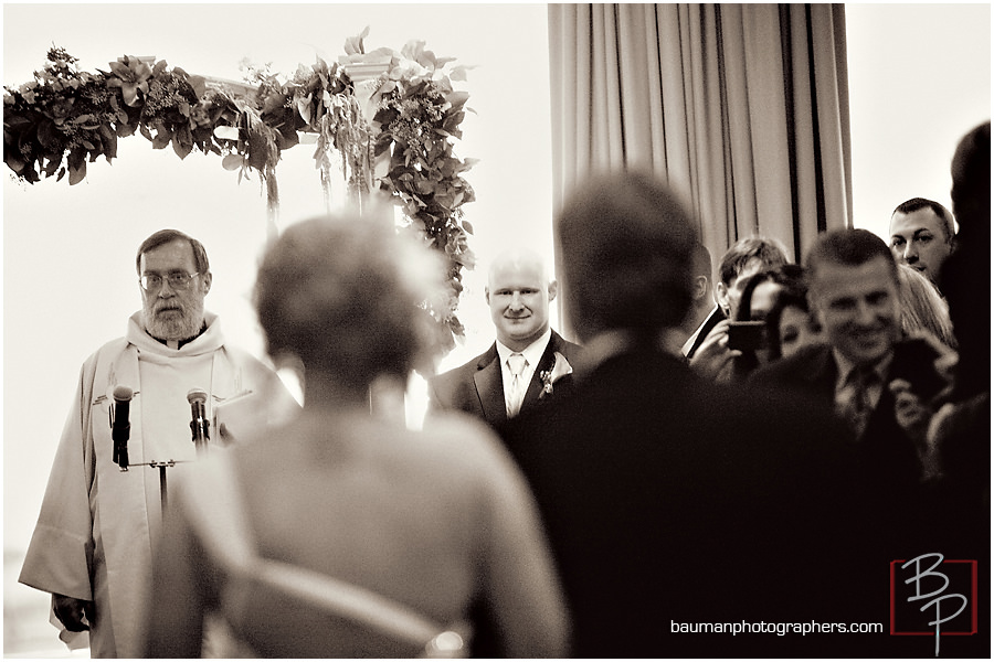 San Diego photo of groom during ceremony