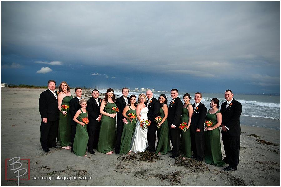 wedding group photo in Coronado