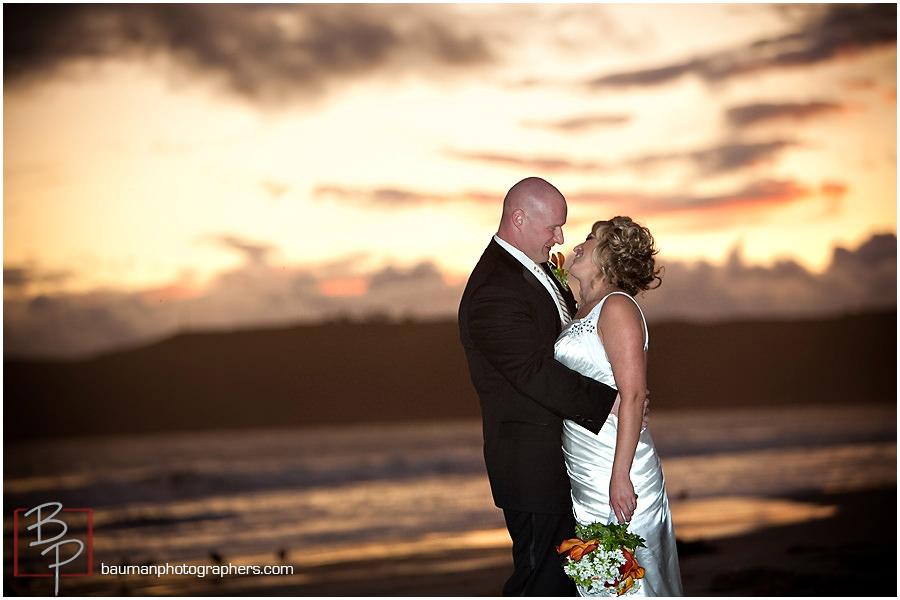 sunset Coronado wedding photo