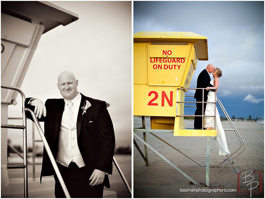 groom portrait in San Diego beach by Bauman