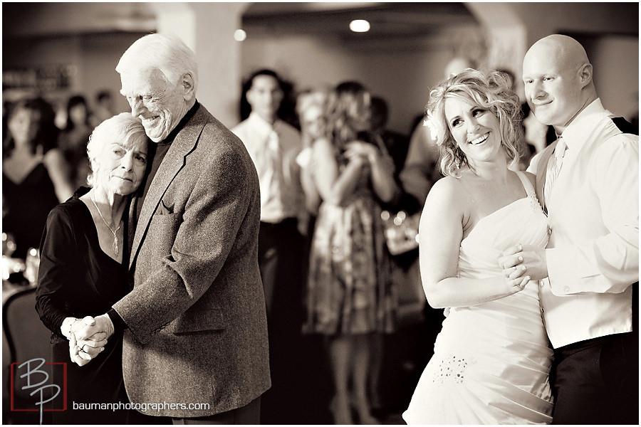 Island Club wedding reception photos by Bauman