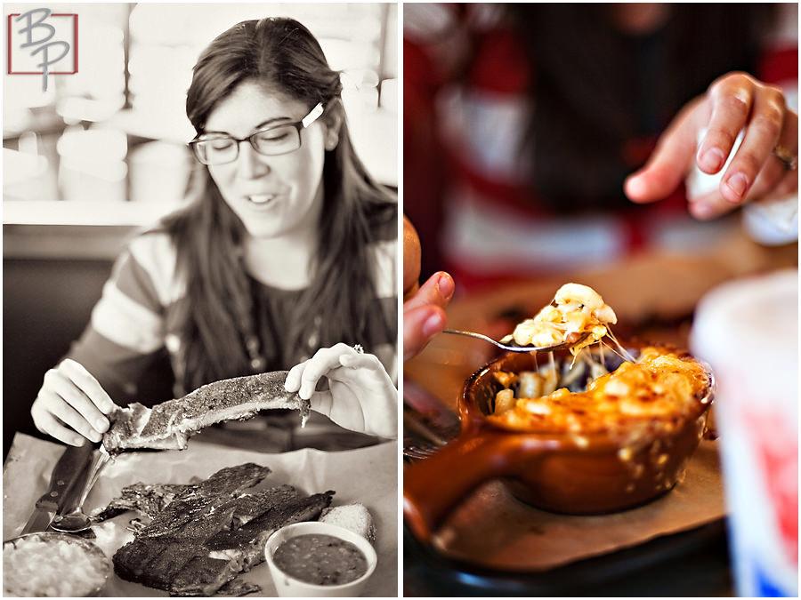 Lunch photographs at Brazen BBQ