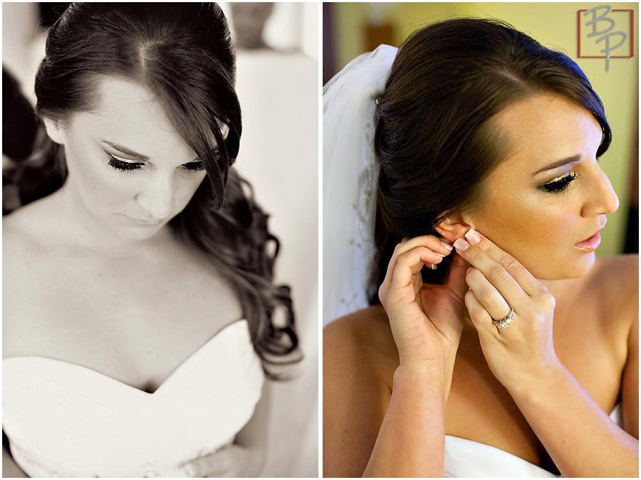 Photographs of bridal prep