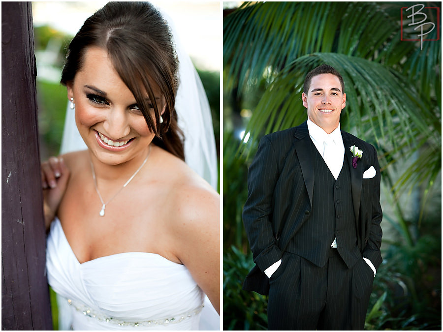 Photographs of the bride and groom