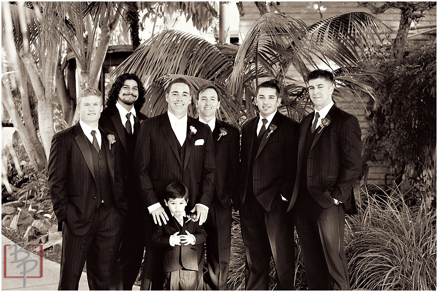 Groom and groomsmen photography