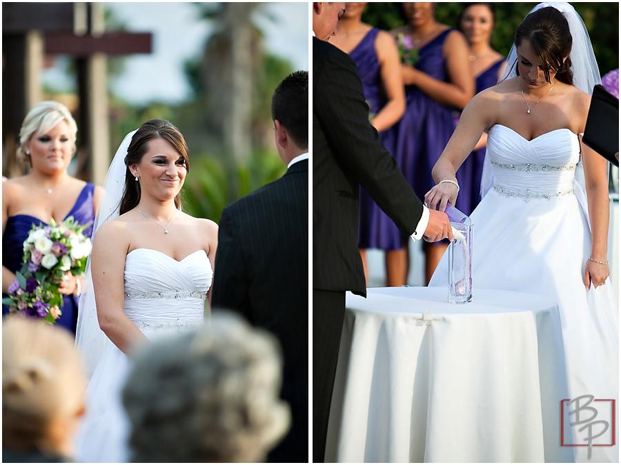 Paradise Point Hotel wedding ceremony photographs