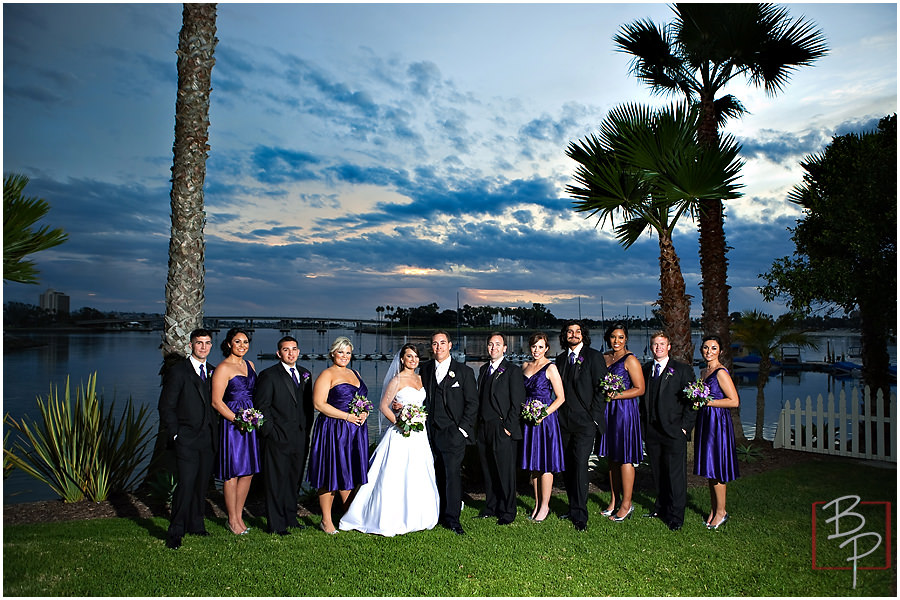 Wedding party at Paradise Point Resort