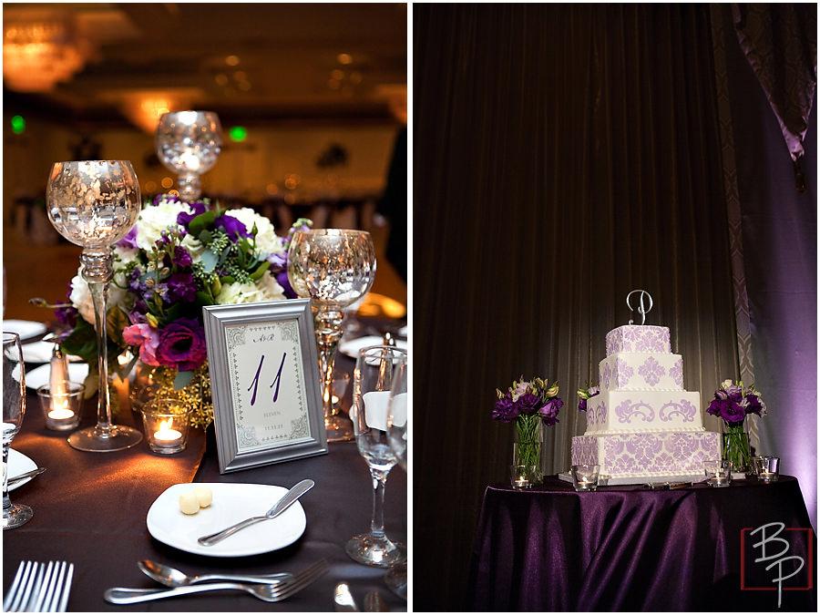 Details of wedding reception in San Diego