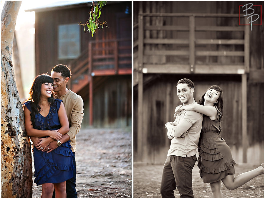 Portraits of a couple at Olivenhain Town Hall in San Diego