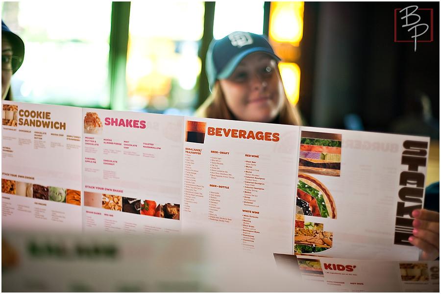 Stacked burger menu
