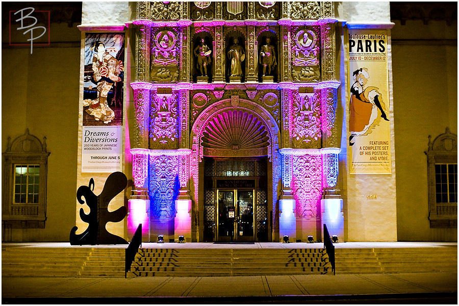 San Diego Museum of Art at night