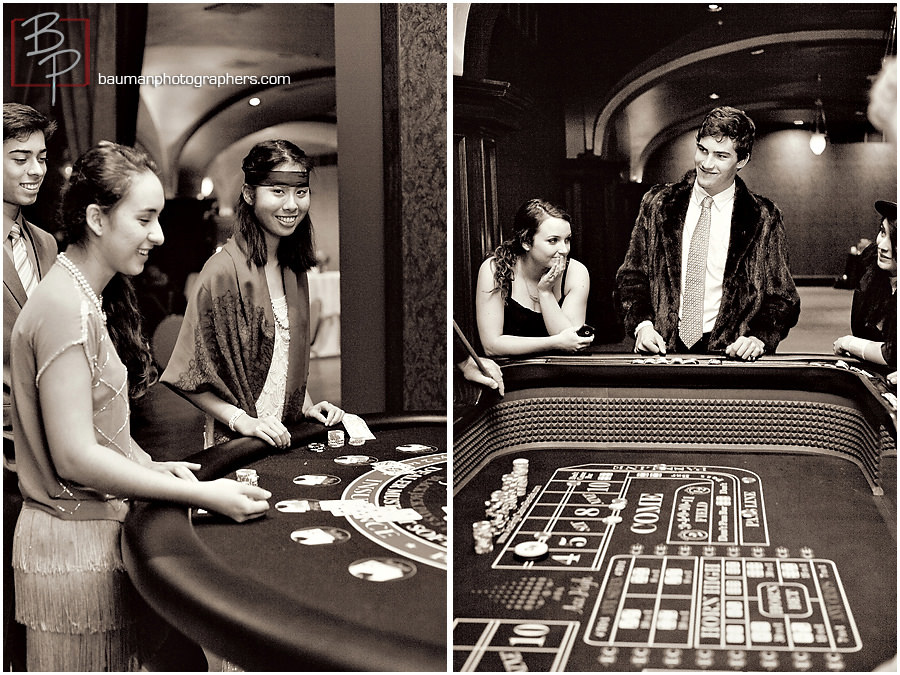 Playing casino games at 18th birthday in San Diego