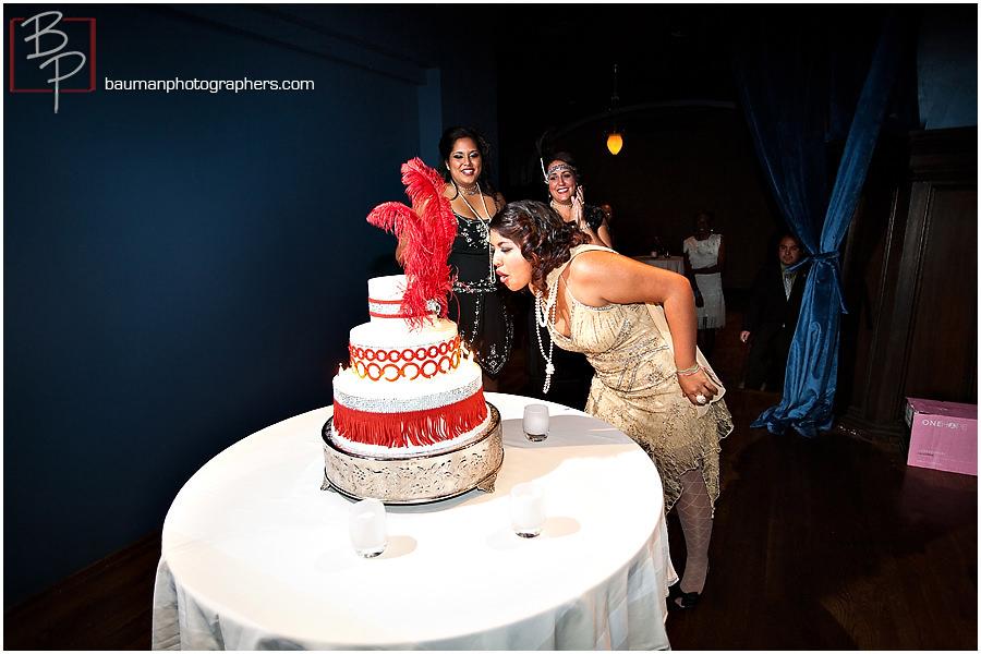 Photographing birthday cake at the US Grant in San Diego