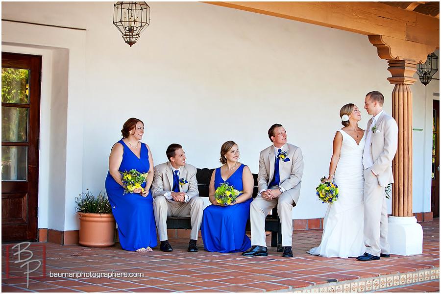 Rancho Bernardo courtyard wedding party