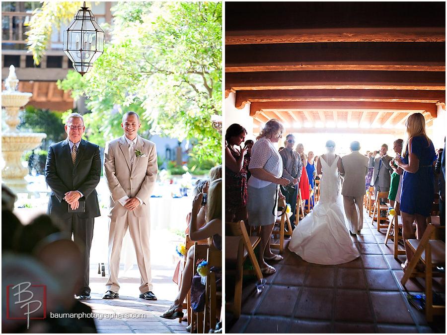 San Diego spanish courtyard wedding