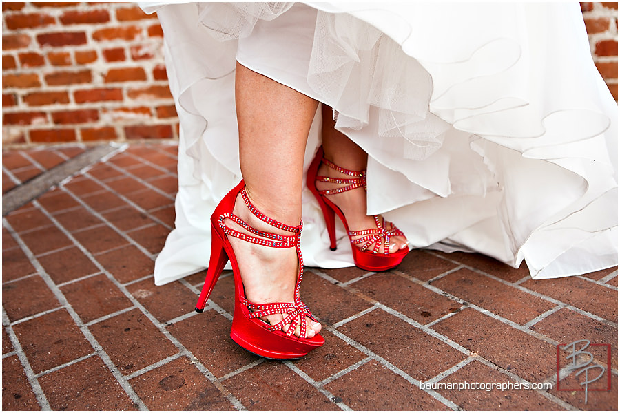 Gaslamp Quarter red shoes