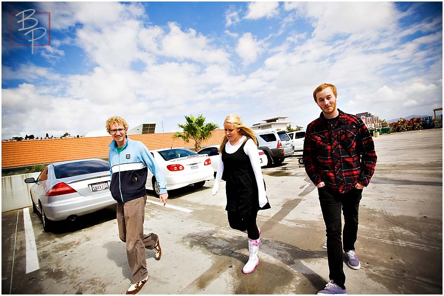 walking in the parking lot